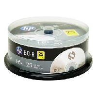HP BLU-RAY 6X 25GB SINGLE LAYER LOGO ON THE TOP 25PCS PER CAKE BOX